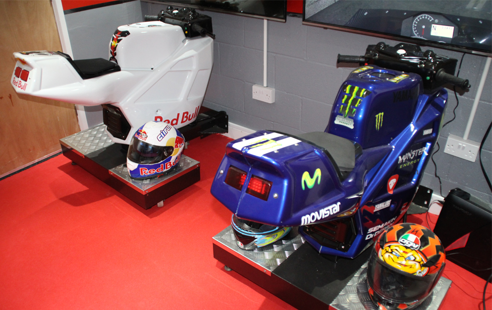 Motorcycle simulators